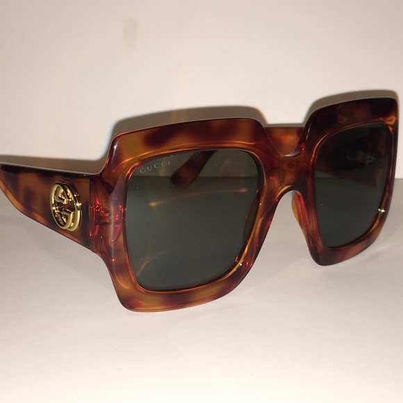 cf1b8dd530 Gucci Women's Havana Square Sunglasses NWT